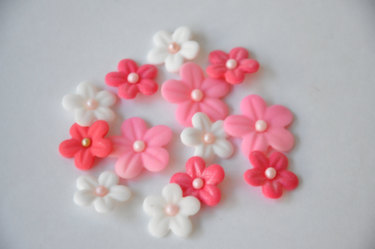 Flower Fondant Cupcake Toppers