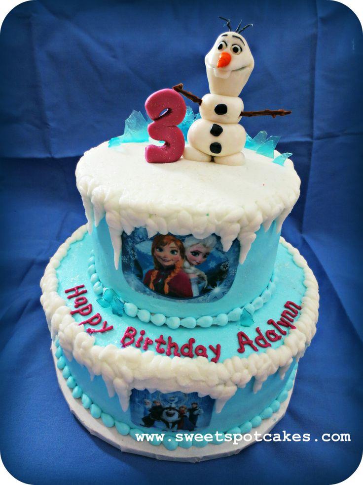 Fondant Birthday Cake Frozen
