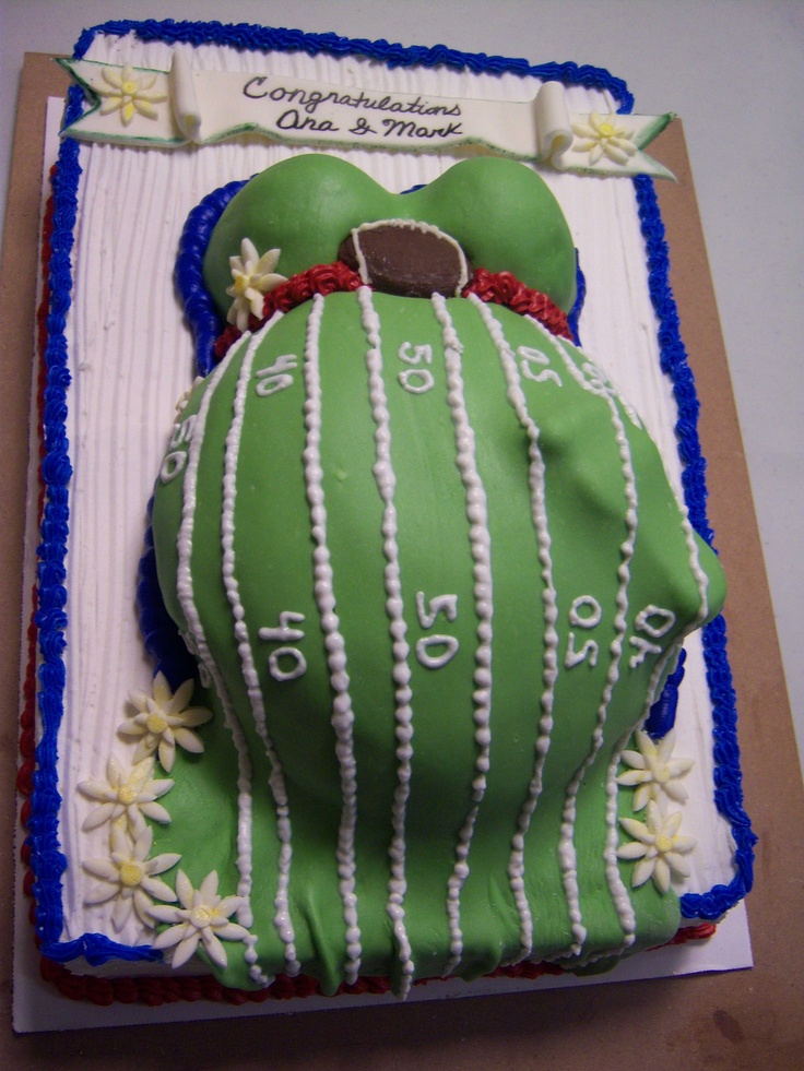 Football Themed Baby Shower Cake for a Boy