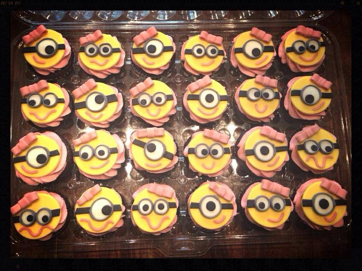 Girl Minion Cupcake Toppers