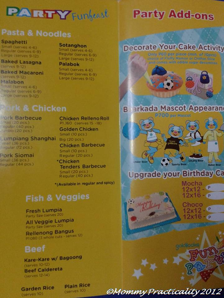 Goldilocks Birthday Cakes Price List