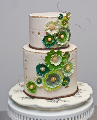 Green Emerald Wedding Anniversary Cakes