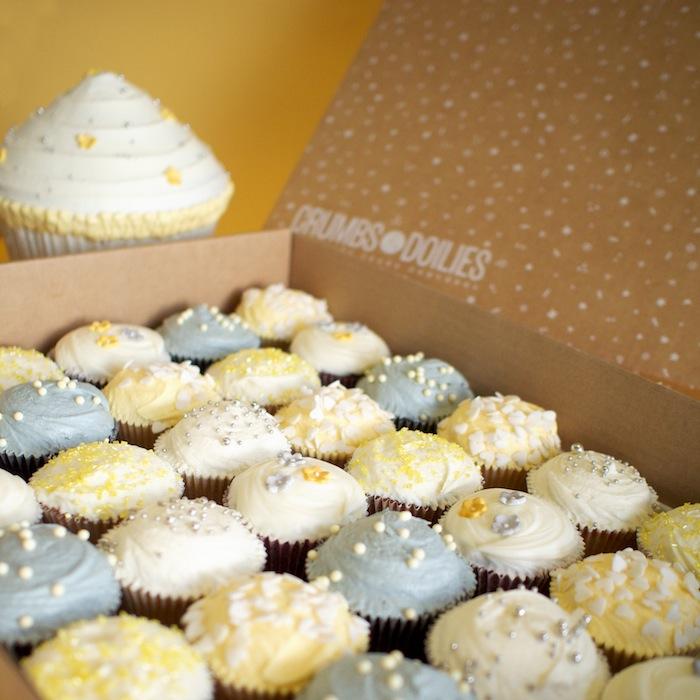 Grey and Yellow Wedding Cupcakes