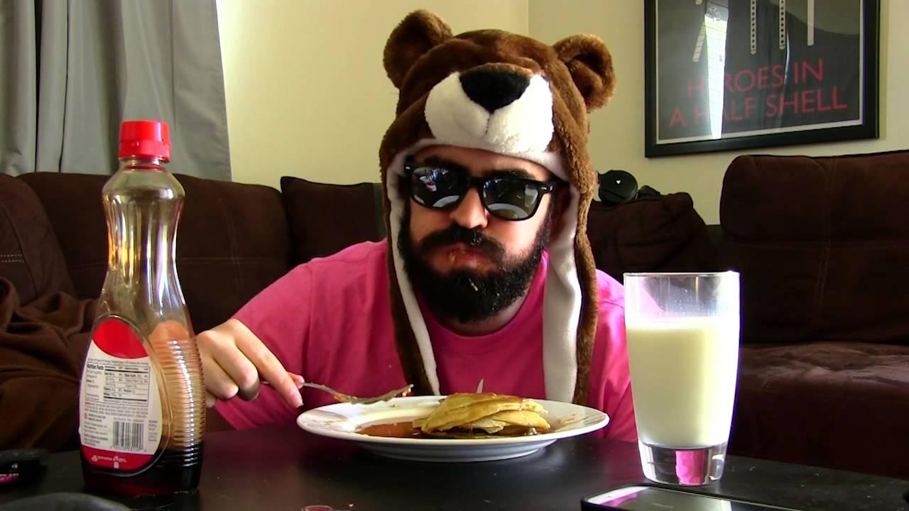 Guy Eating Pancakes