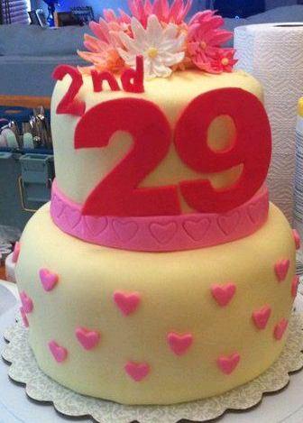 Happy 29th Birthday Cake