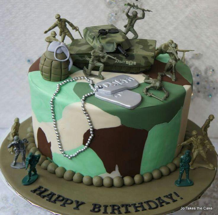 7 Photos of Military Themed Birthday Cakes