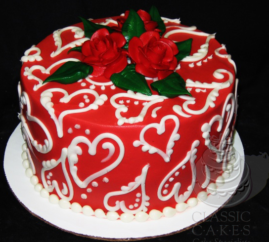 Happy Valentine's Day Cake