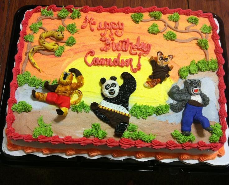Kung Fu Panda Sheet Cake