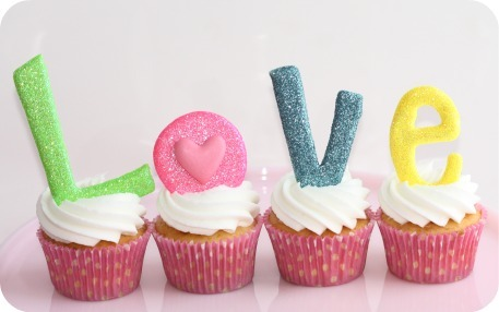 Love Letters On Cupcakes