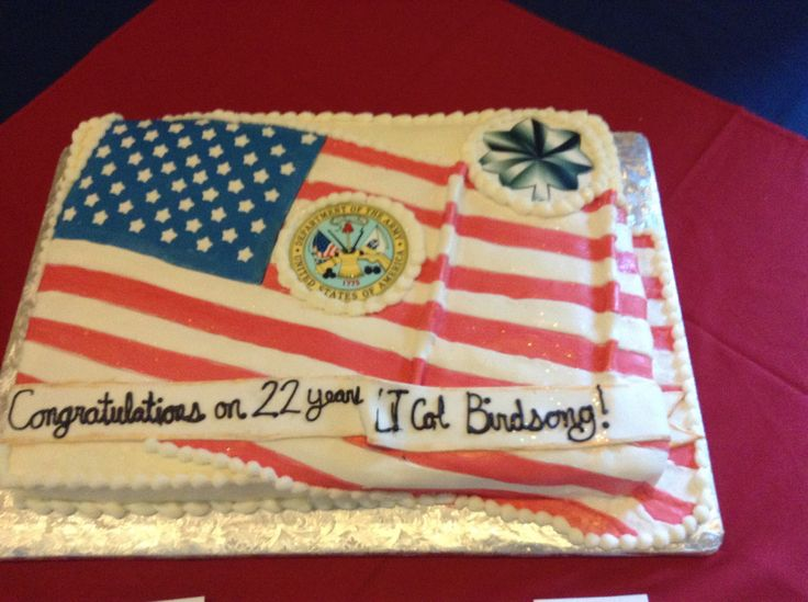 Military Retirement Cake Ideas