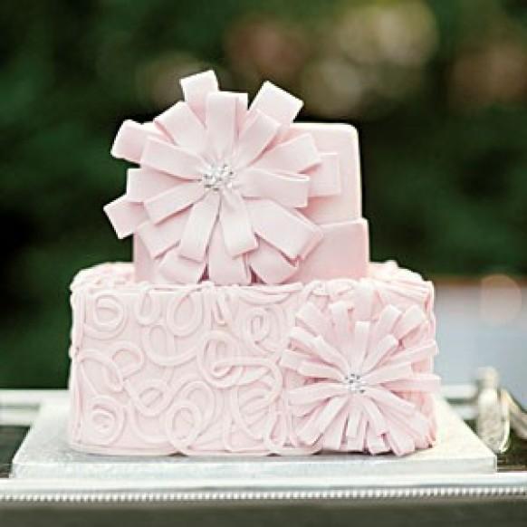 Modern Floral Wedding Cake
