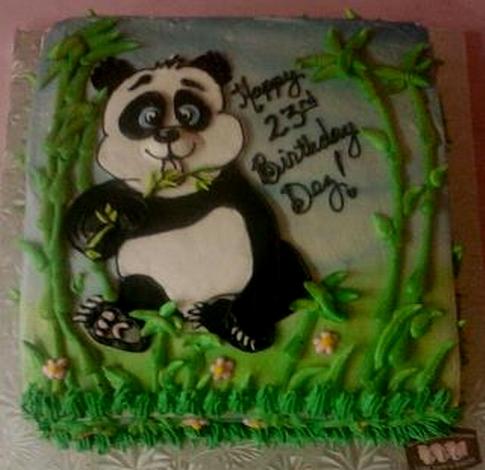 10 Photos of Panda Sheet Cakes