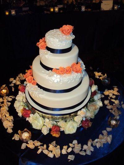 9 Photos of 4 Tier Wedding Cakes Royal Blue