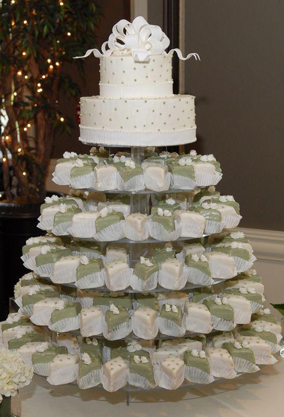 10 Photos of Petit Fours Wedding Cakes