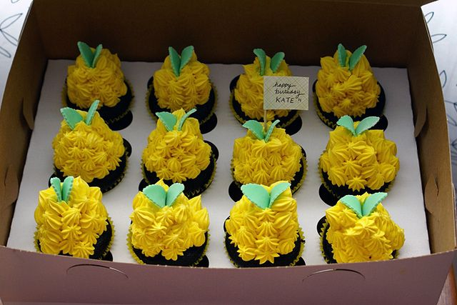Pineapple Cupcake Birthday Cake