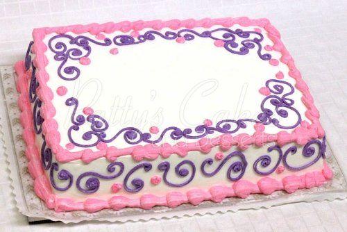 Pink and Purple Sheet Cake Ideas
