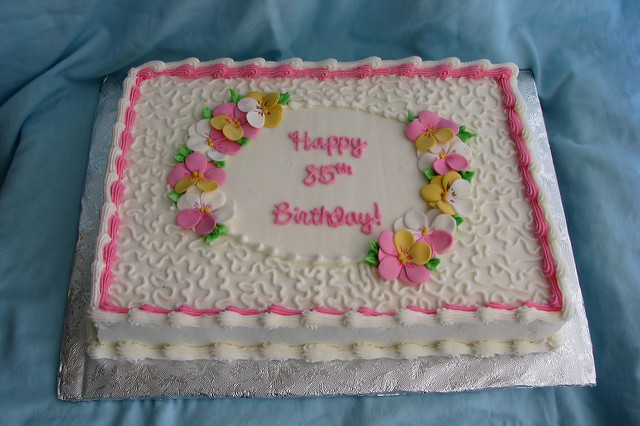 Pretty Birthday Sheet Cakes for Women