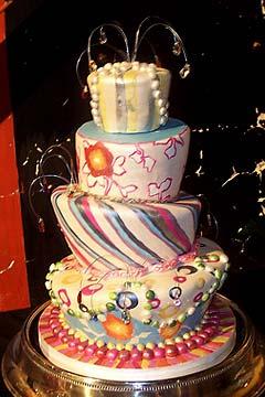 Psychedelic Wedding Cake