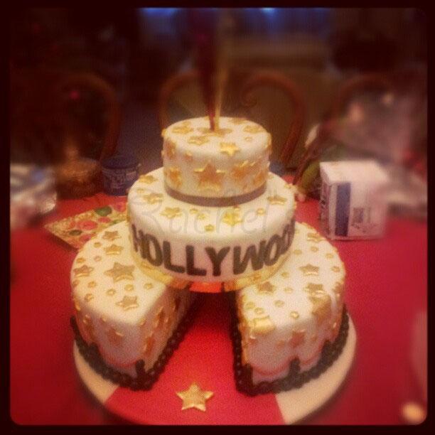 Red Carpet Hollywood Theme Cake