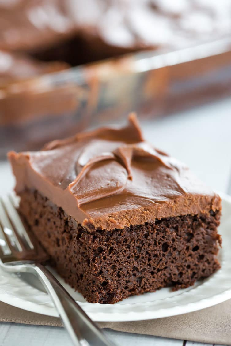 Sheet Cake with Chocolate Frosting