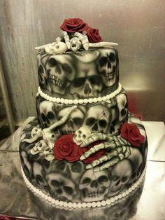 Skull Wedding Cake Designs