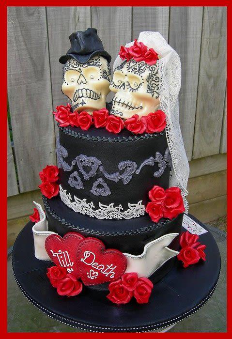 Skull Wedding Cakes Ideas