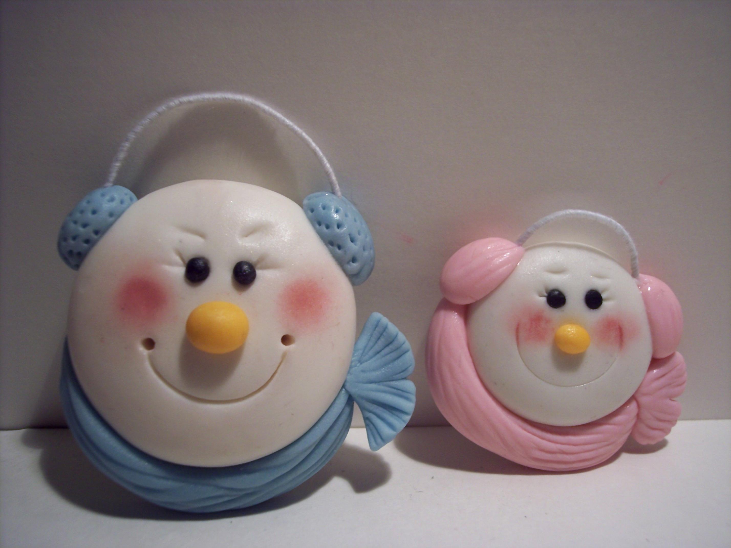 Snowman Face Cupcake Ideas