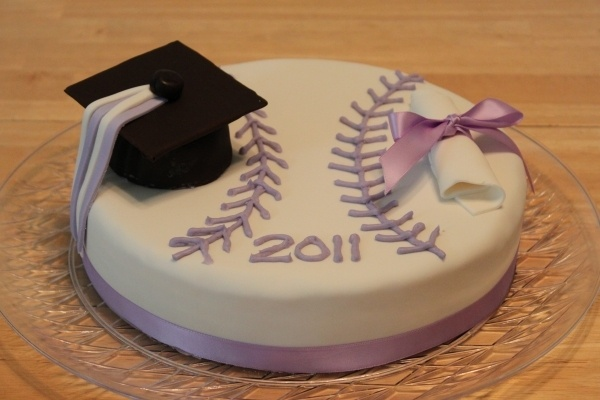 Softball Graduation Cake