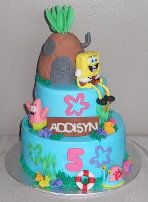 Spongebob Theme Birthday Cake