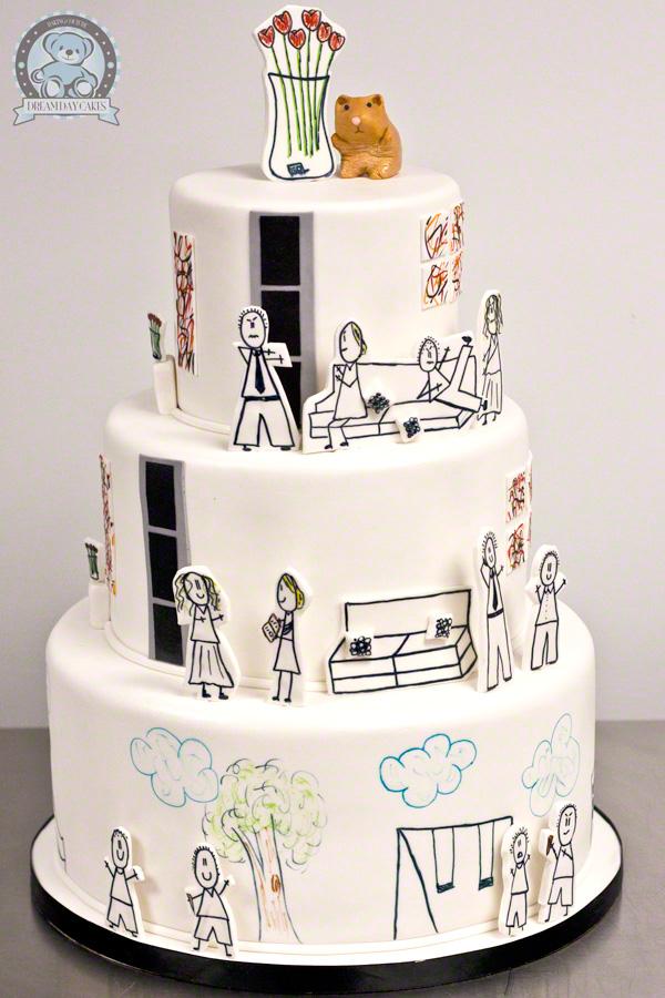 Stick Figure Cake