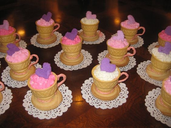 Tea Party Birthday Cup Cake