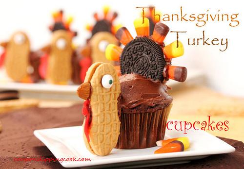 Thanksgiving Turkey Cupcakes