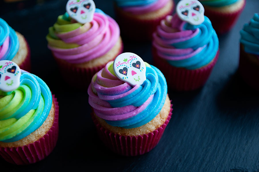 The Day of the Dead Sugar Skull Cupcake