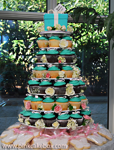 Tiffany Blue Cupcake Tower