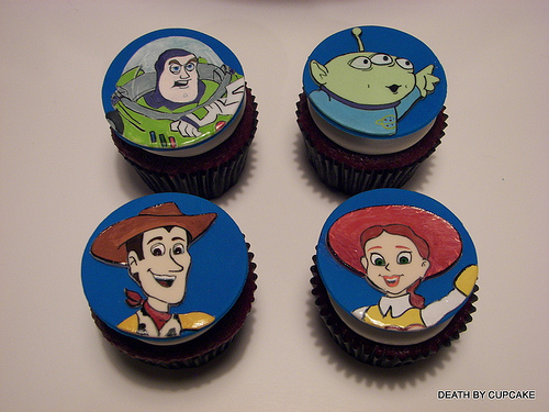 Toy Story Character Cupcakes