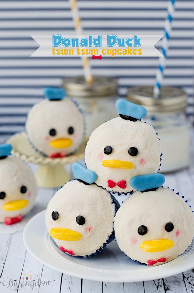 11 Photos of Tsum Tsum Donald Duck Cupcakes