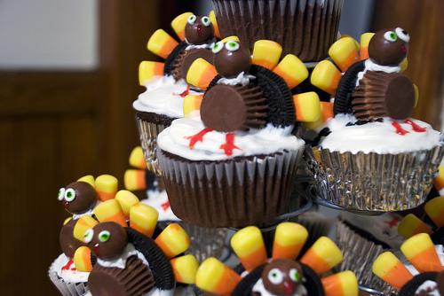 Turkey Cupcakes with Oreos