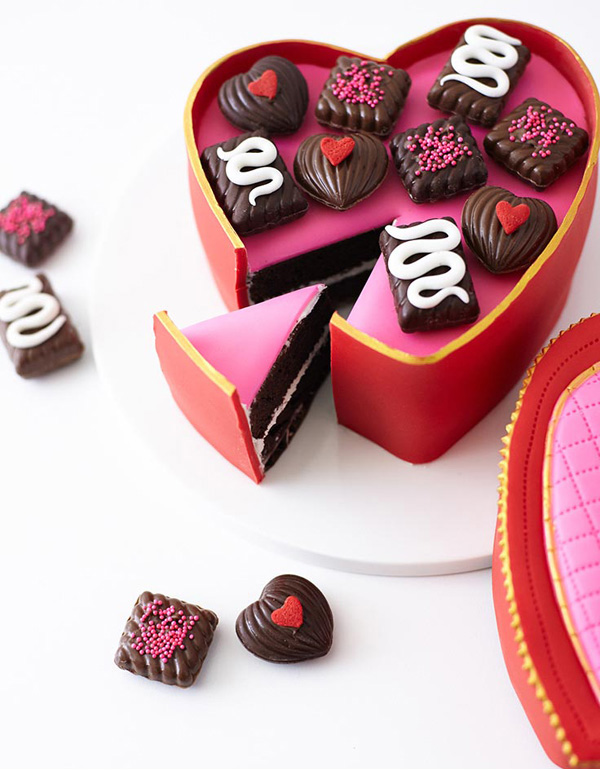 Valentine Heart Candy Box Cake