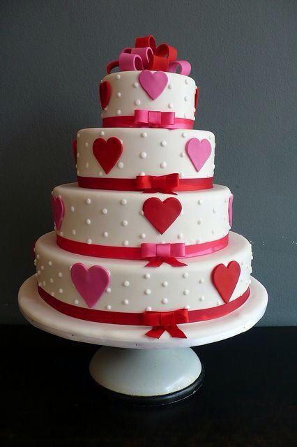 Valentine Heart Wedding Cake