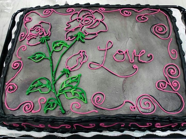 Valentine's Day Sheet Cake