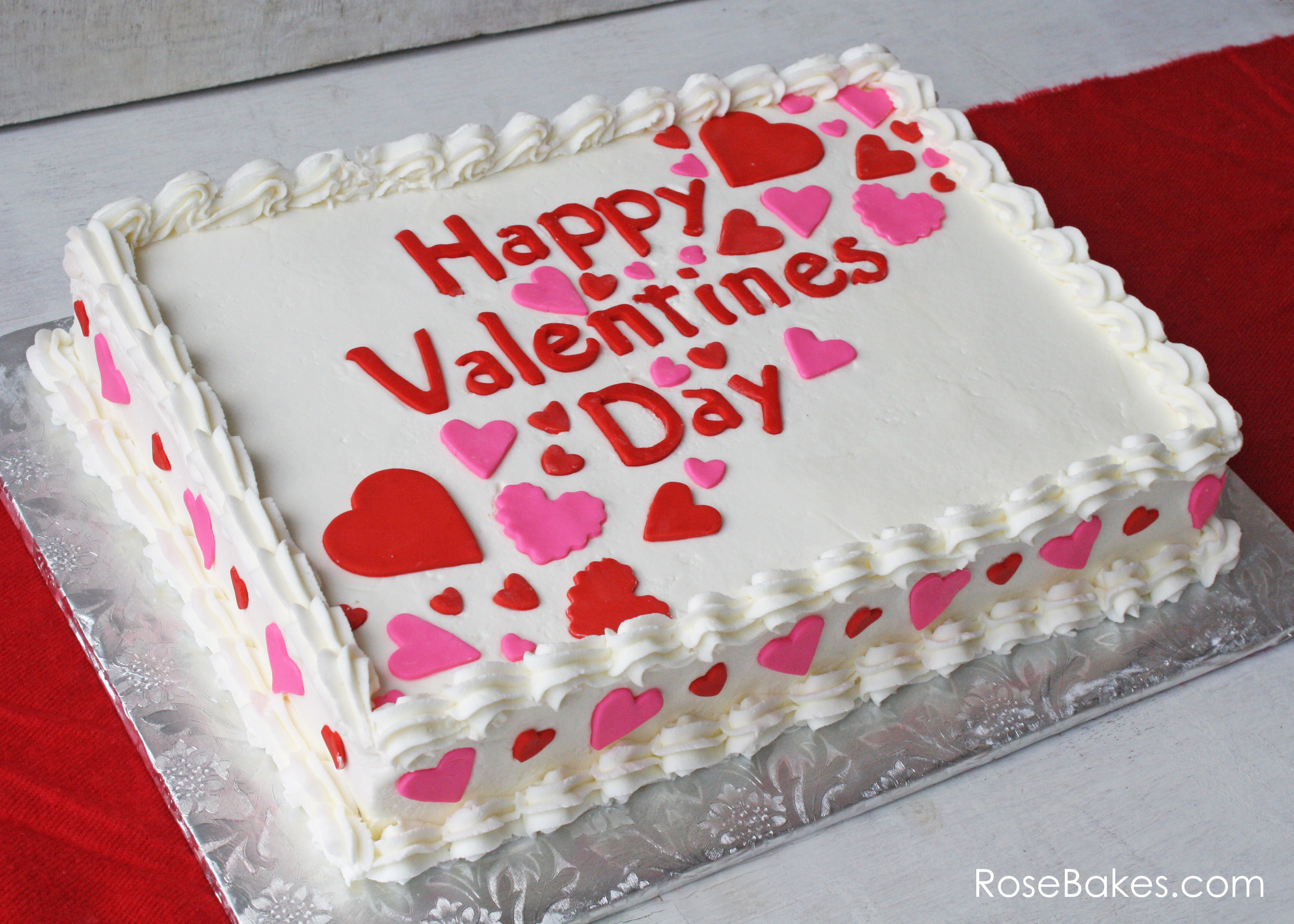 Valentine Sheet Cake Designs