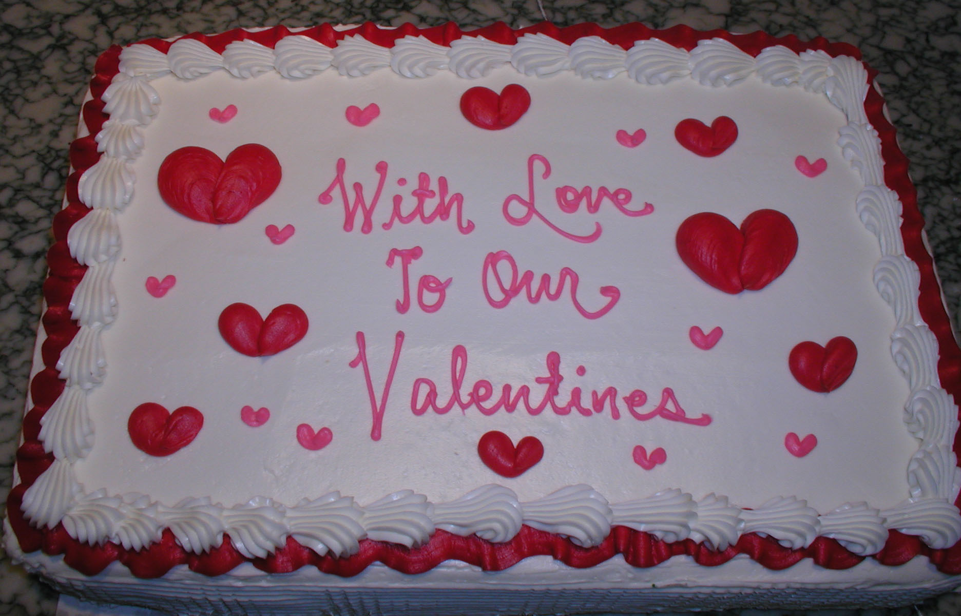Valentine Sheet Cake Ideas