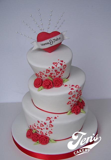Valentine Wedding Cake Ideas