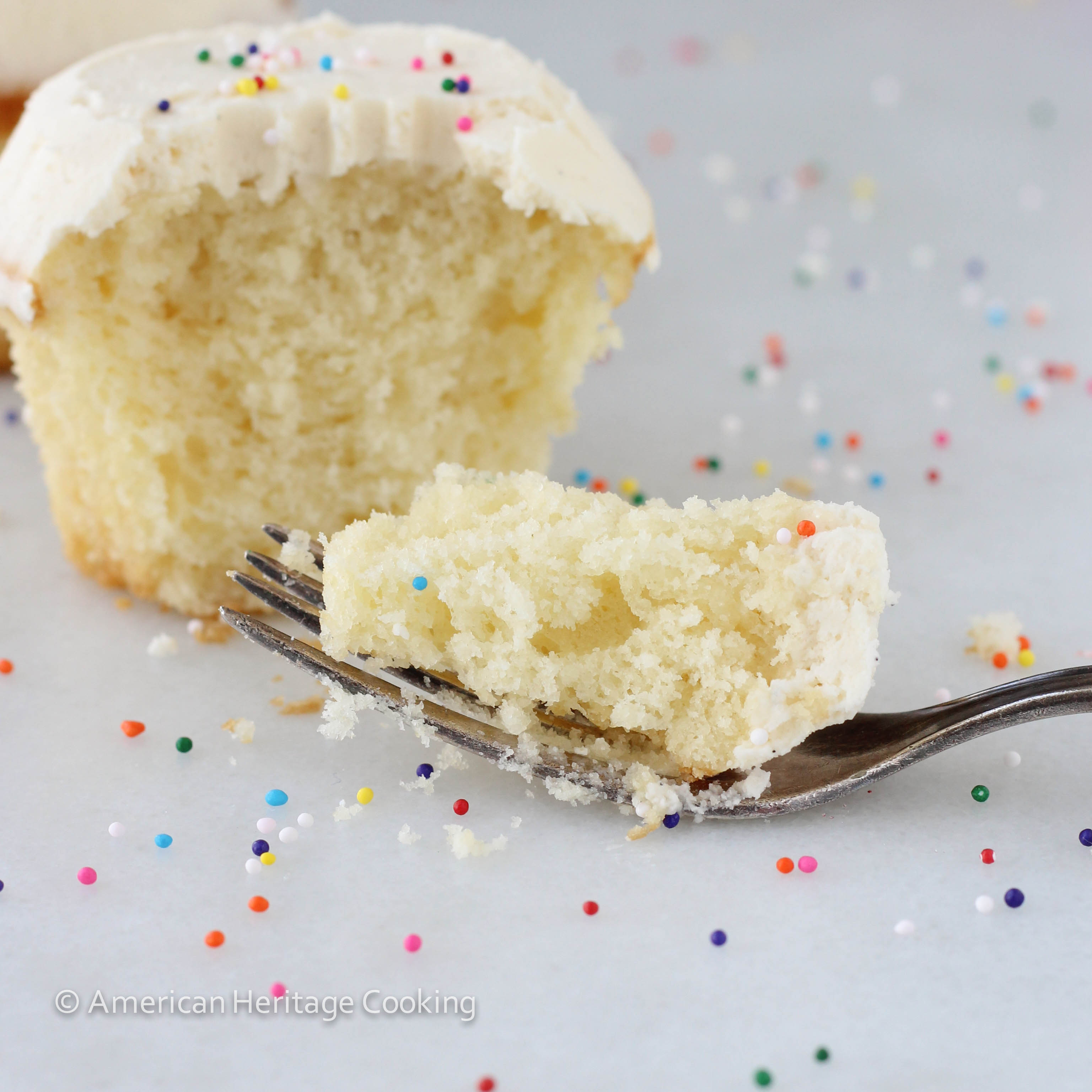 9 Photos of Neutral With Sprinkles Vanilla Cupcakes