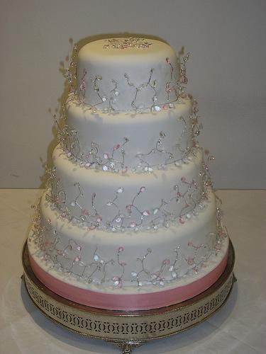 Wedding Cake with Diamonds