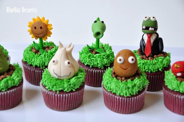 Zombie Plants Vs. Zombies Cupcakes