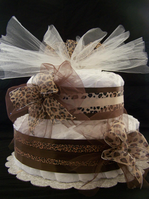 2 Tier Baby Shower Diaper Cake