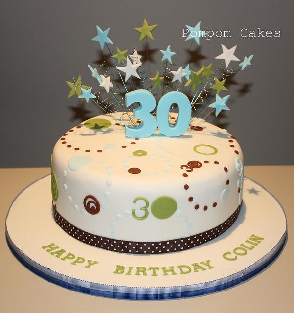 10 Photos of Men 30 Years Old Birthday Cakes