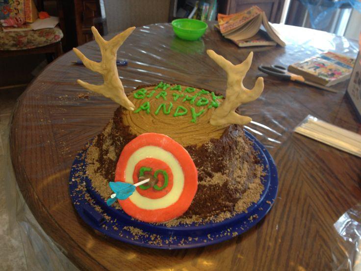 Archery Hunting Birthday Cake