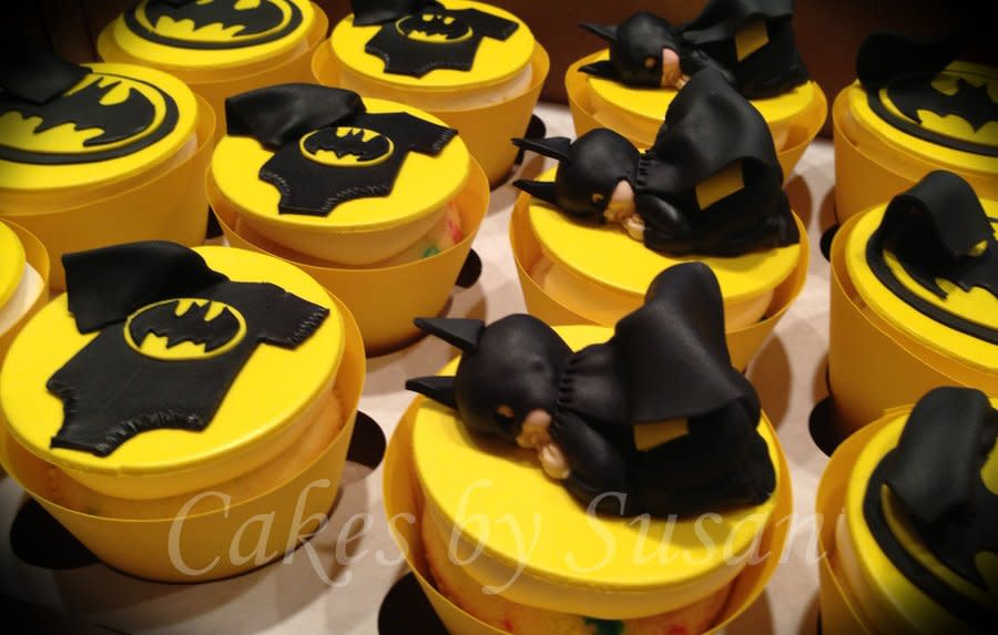 Batman Baby Shower Cupcakes